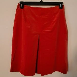 346 Brooks Brothers Stretch Red Skirt - 8